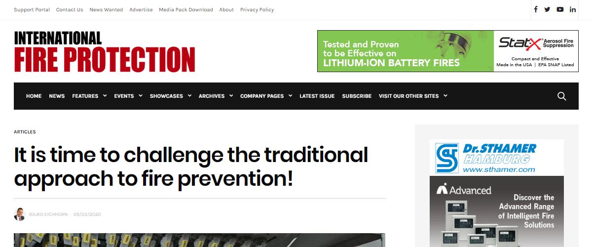 It is time to challenge the traditional approach to fire prevention!